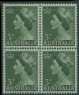 AUS SG262ab 3d Queen Elizabeth II deep green Coil block of 4